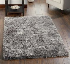 Blizzard Silver Shaggy Rugs | Modern Rugs