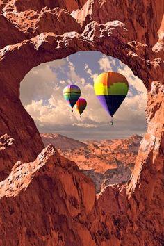 Hot Air Balloon. Moab, Utah  #ballooning