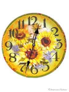 Sunflower Decor | sunflowers kitchen wall clock 12 sunflower french country wall clock