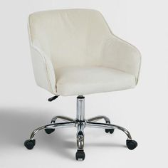 One of my favorite discoveries at WorldMarket.com: Oyster Beige Velvet Jozy Home Office Chair