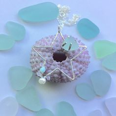 Sterling Silver Sea Star and Sea Glass Necklace by GirllovesSea