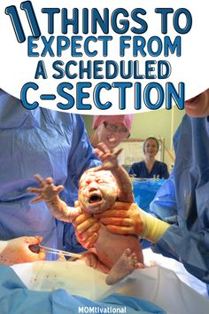11 Things To Expect With A Scheduled C-Section - MOMtivational High Risk Pregnancy, Pregnancy Health, Pregnancy Tips, Postpartum Recovery, Postpartum Depression, Trying To Get Pregnant, Getting Pregnant, Healing From C Section, C Section Workout