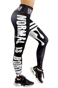 e842a1e62582 LIMITED Performance Mid Waisted Leggings - Normal is Boring