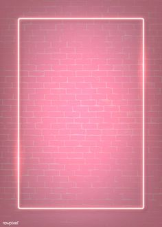 Rectangle pink neon frame on a pink brick wall vector Pink Wallpaper Backgrounds, Framed Wallpaper, Colorful Wallpaper, Pink Neon Wallpaper, Monogram Wallpaper, Wallpaper Ideas, Instagram Background, Instagram Frame, Story Instagram