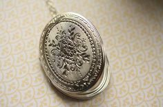 Hey, I found this really awesome Etsy listing at https://www.etsy.com/listing/172663644/large-silver-locket-necklace-long