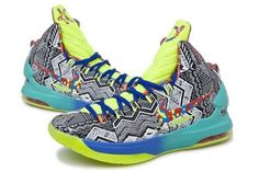 Nike Kevin Durant's KD V Grey/Green Basketball shoes