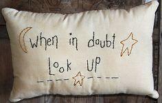 Primitive Hand Stitched Pillow OFG Team by stitchintimepatterns, $14.00