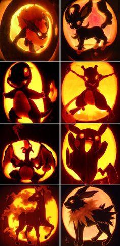Awesome Pokemon Jack-o-Lanterns