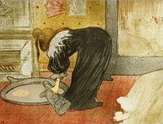 Henri de Toulouse-Lautrec (French, Femme au tub (Woman with a Tub), from the series Elles , color lithograph on wove paper Portland Art Museum Henri De Toulouse Lautrec, Tolouse Lautrec, Poster S, Canvas Prints, Art Prints, Edgar Degas, Vintage Wall Art, French Artists, Claude Monet