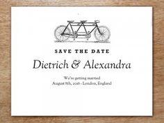 Printable Save the Date Card - Tandem