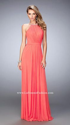 367f9f66db2e US 163.99 2016 Blue Open Back Chiffon Sleeveless Salmon A-line Halter Floor  Length Ruched Homecoming   Prom Dresses By LF 21974 online shops