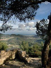 Mount Talaia the highest point in Ibiza...