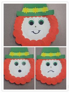 Emotional leprechaun, St. Patrick's Day, moving parts, toddler craft