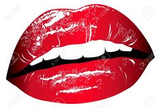 Lips. Print For T-shirt Royalty Free Cliparts, Vectors, And Stock ...