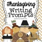 Perfect writing prompts to use for Thanksgiving! Use them as morning work, in a writing center, or during your writing instruction!  Prompts Includ...