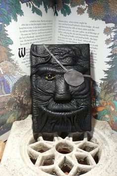 Mythical Beast Book (Pirate-black leather w/eye patch) $39.95: