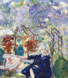 Zuzu in the Garden, by Istvan Csok (Hungarian, Garden Park, Art Blog, Female Art, Art Nouveau, Parks, Gallery, Gardens, Flowers, Beauty