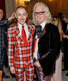 Alan Cumming and Billy Connolly, two great Scots in fabulous tartan at NTSUSA's 2015 Annual Fundraising Gala. Scottish Gaelic, Scottish Tartans, Scottish Plaid, Prinz Charles, Prinz William, Wallace Tartan, Billy Connolly, Camilla Duchess Of Cornwall, Prinz Harry