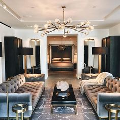 Restoration Hardware never fails to impress! Those sofas are shared by Restoration Hardware never fails to impress! Those sofas are shared by Minimalist Living Room, Living Room Decor Gray, Dark Living Rooms, Vintage Industrial Decor, Luxury Living Room, Modern Room, Living Room Grey, Restoration Hardware Living Room, Interior Design