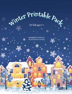 Free Winter Printable Pack with 77 activities for kids ages 2-7 || Gift of Curiosity