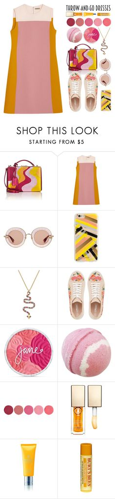 """Throw and go"" by biscuitatlas ❤ liked on Polyvore featuring Mark Cross, Bottega Veneta, Gucci, Rifle Paper Co, Kate Spade, Dune, Kjaer Weis, Clarins, Molton Brown and Burt's Bees"