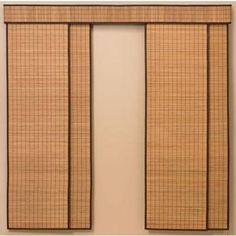 Just found the perfect window treatments!! - Blinds.com. – Woven Wood Sliding Panel #homedecor #blinds #vertical-blind-alternatives