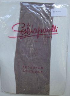 Vintage Schiaparelli Paris Fawn Grey-Brown Pantyhose Size Ex Large  Slctd Grade