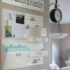 Kitchen Command Center {Office Decor and Organization} Check out this kitchen command center! Perfect for the busy family with a million things going! Use this cleverly organized space as inspiration to create your own command center space! View This Tutorial