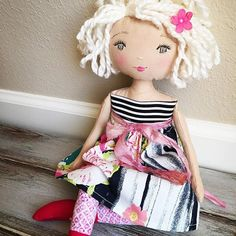 Now Sold - I love this sweet, silver-eyed beauty  Surprise Listing!! I'm still thinking on her finishes and whether to add a few of this style dolly in the next restock Thoughts? #spuncandydolls #handmadedoll #clothdoll #dollmaker #keepsakedoll #artdoll #shelfie