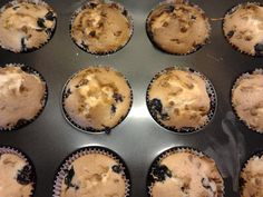 bleuberry muffins with white choclate