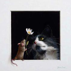 Pax mundi 5 by Marina Dieul Art Et Illustration, Illustrations, Cat Drawing, Painting & Drawing, Realistic Drawings, Animal Paintings, Spirit Animal, Cat Art, Pet Portraits