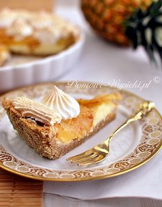 Tart pineapple and coconut Fruit Cakes, Biscuits, Pineapple, French Toast, Coconut, Pie, Cooking Recipes, Breakfast, Sweet