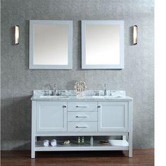 "Bayhill 60"" Double Bathroom Vanity Set with Mirror"