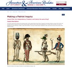 Making a Patriot Inquiry: Are Independence, Freedom, and Liberty the Same Thing? Lesson Plan for - Grade