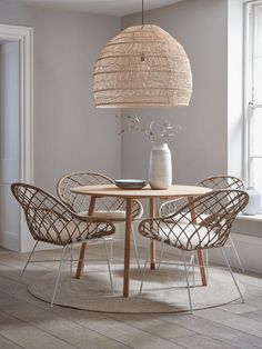 Round Rattan Open Weave Chair - Round Rattan Open Weave Chair – Luxury Modern Occasional Chairs – Modern Luxury Seating – Modern Home Furniture Round Oak Dining Table, Oak Table, Dining Table In Kitchen, Dining Tables, Rattan Dining Chairs, Modern Dining Chairs, Room Chairs, Next Dining Chairs, Dining Chair Set