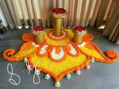 32 Diwali DIY Decoration Ideas (You Must Try) The season of lights and joy is here. Yes, the festival of Diwali is getting closer and it is the right time for you guys to make some amazing plans … Flower Rangoli Images, Rangoli Designs Flower, Colorful Rangoli Designs, Rangoli Ideas, Rangoli Designs Diwali, Rangoli Designs Images, Flower Designs, Diwali Rangoli, Diwali Decoration Lights