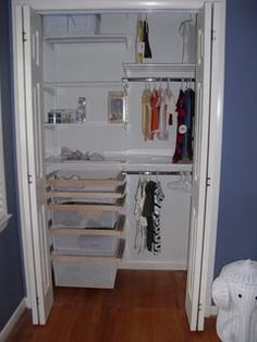 Awesome White Elfa Décor Girlu0027s Reach In Closet | Shelves, The Ou0027jays And Drawers