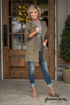 City Sass Hooded Jacket - Olive