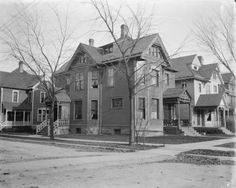 House on Street Corner | Photograph | Wisconsin Historical Society