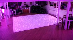 Sparkly white star light twinkly LED dance floor with pink up lighting - seems to be a popular colour choice for weddings! White Lead, All White, Light Up Dance Floor, Led Dance, Dance Floors, Twinkle Twinkle, Party Ideas, Colour, Popular