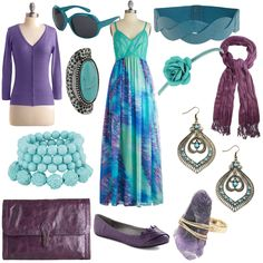 Blue Teal and Purple