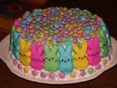 Peep Bunny Cake for Easter