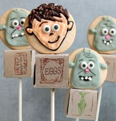 The cutest ever Boxtrolls Cookie Pops http://www.asparkleofgenius.com/2014/09/boxtrolls-cookie-pops-movie.html