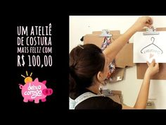 Decoração de ateliê de costura por R$100 - Deixa Comigo - DIY - YouTube