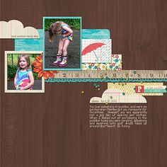 Puddle Jumper by ashleywb. I love how the wooden background here is so subtle, allowing the papers and words to be the stars.