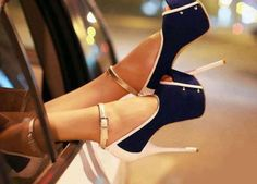 #blue #gold #cream shoes
