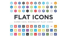 40 New and Free Icon Sets Flat Social Icons - Flat Icon Set