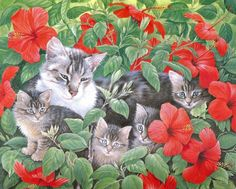 Cat Artwork by Lesley Anne Ivory