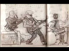 Rare song + Jimi Hendrix DREW these PICTURES !!!  Saved by his father 360p