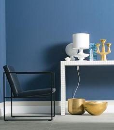Wandfarbe: Das Müssen Sie Wissen   Dunkle Navy Töne #blau #einrichten #
